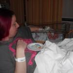 Beschuit met muisjes in het ziekenhuis